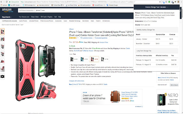 Amazon Storage Fees Calculator