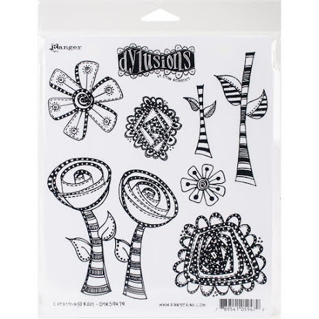 Dylusions Cling Stamps 8.5X7 - Everythings Rosy
