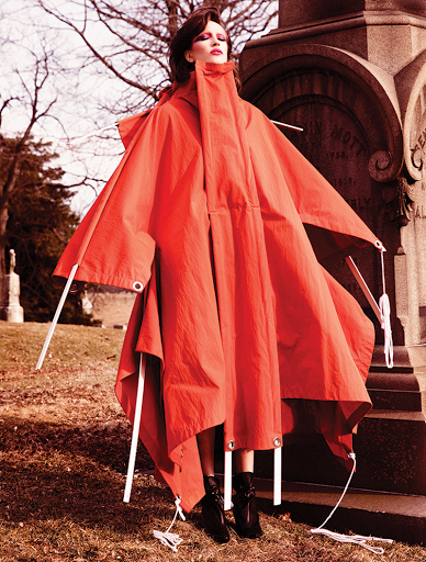 Fashion editorial featuring looks from Moncler and Jimmy Choo.