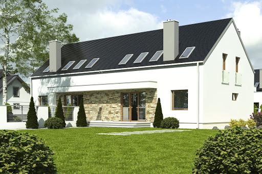 projekt Sosnówka bez garażu bliźniak B-BL2