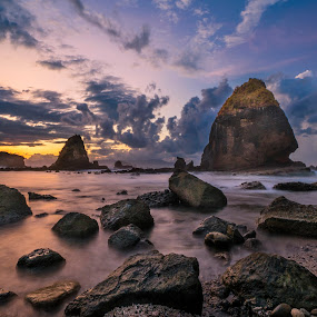 Stone at Tanjung Papuma Beach by Slamet Mardiyono - Landscapes Sunsets & Sunrises