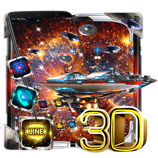 3D Space Galaxy Parallax Theme Android APK Download Free By CreativeThemesDesign