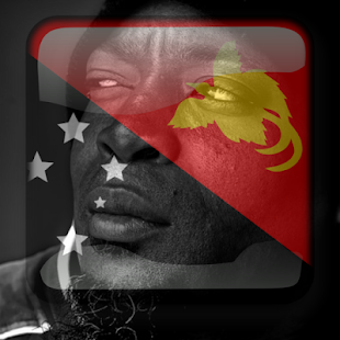 Papua New Guinea Flag On Face Maker : Photo Editor - náhled