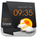 3D Clock Current Weather Free icon