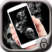 Skull theme black theme smoke