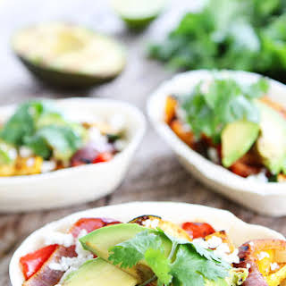 Grilled Avocado and Vegetable Tacos.