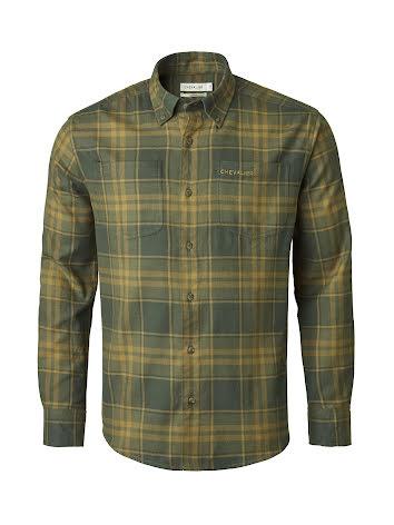 Chevalier Ash Shirt Men Dark Green Checked