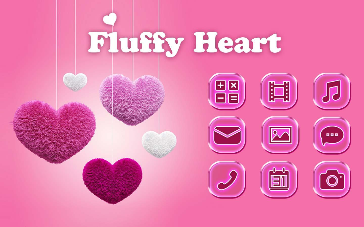 Fluffy Hati Pink Love Tema Apl Android Di Google Play