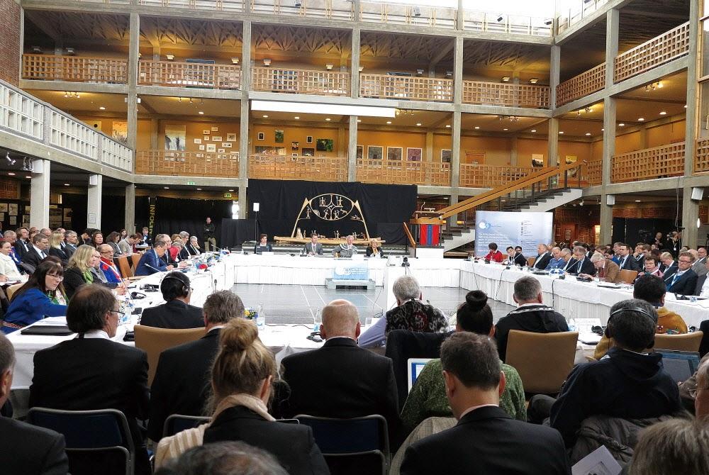 북극이사회 회의 모습