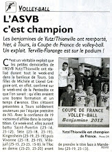 Photo: 28-05-2012 Les benjamines remportent la coupe de France