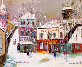 "Photo: Maurice Utrillo, ""Montmartre sotto la neve"""