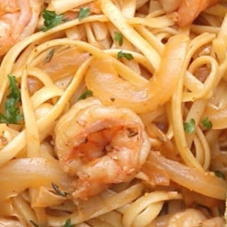 2. Lemon Paprika Shrimp Pasta