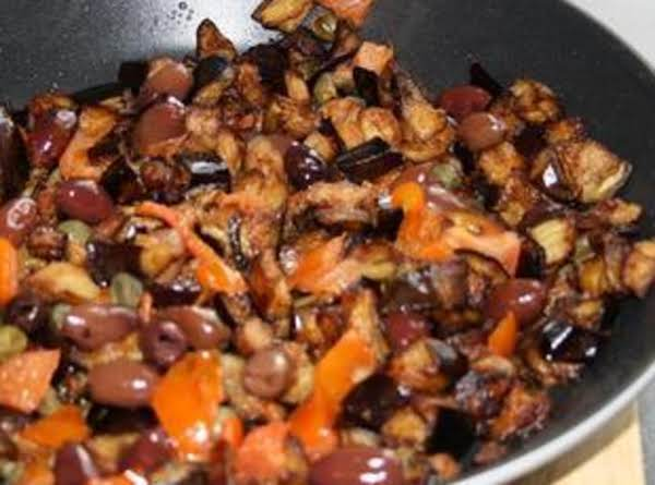 Gayle's Aubergine (eggplant) Caponata On Sourdough Crustini Recipe