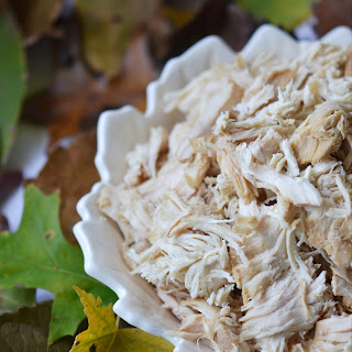 Autumn Crockpot Poached Chicken Breasts
