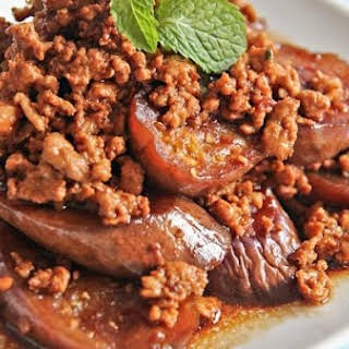 Eggplant With Minced Meat.