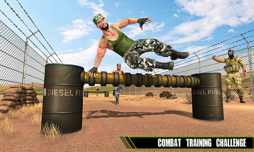 us army training school game: obstacle course race screenshot 3