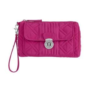 Pushlock Wristlet in Magenta