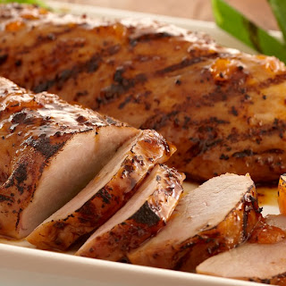 Grilled Apricot Glazed Pork Tenderloin.