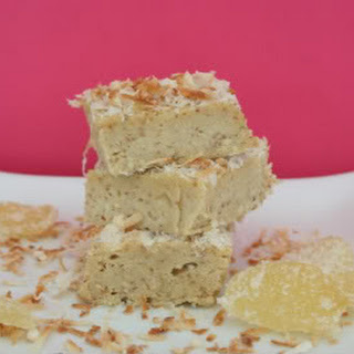 Toasted Coconut Ginger Blondies (Low Carb and Gluten Free)
