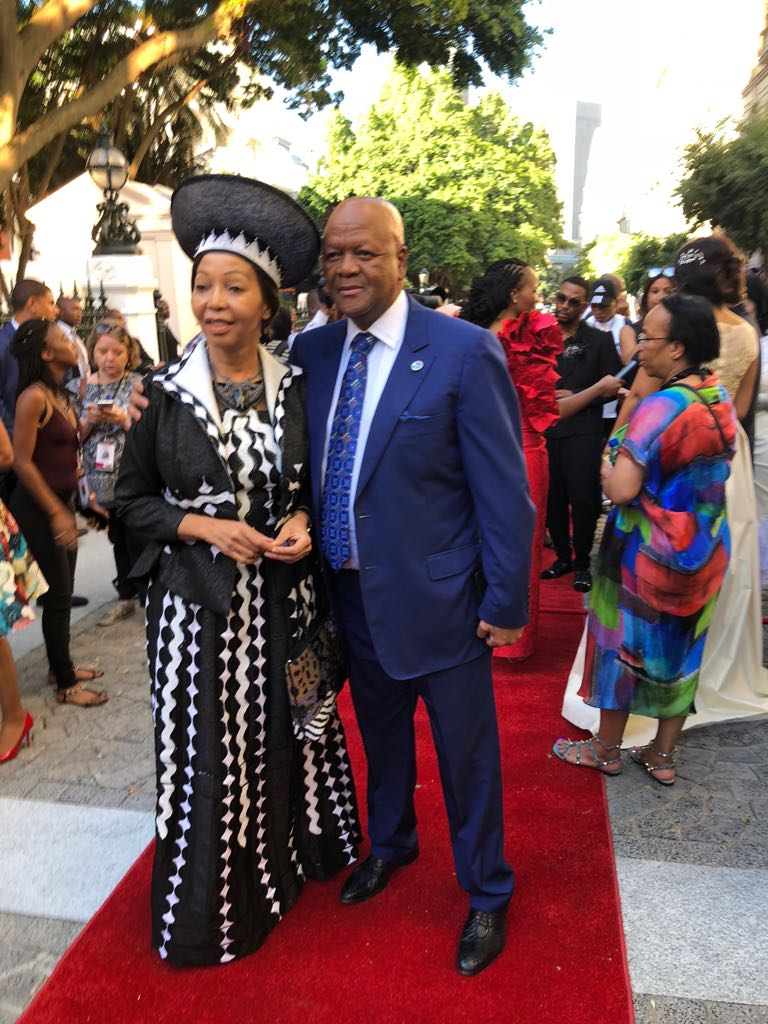 Minister in the Presidency Jeff Radebe with his wife Bridgette.