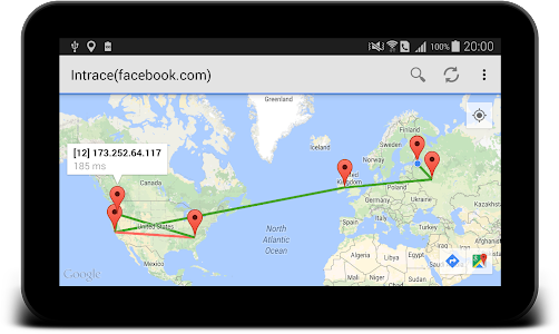 Intrace: Visual traceroute v1.4 (Premium)