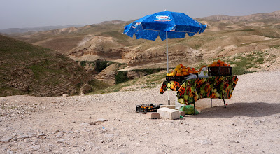 Photo: Fruit Juice  Stand in the desert