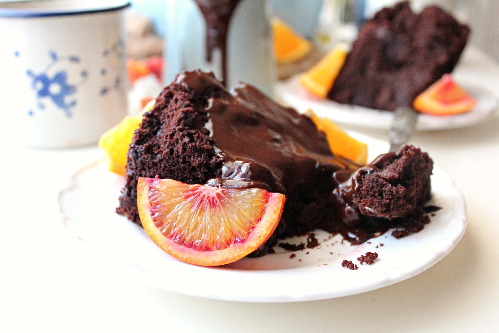 Orange Chocolate Brownie Cake: so rich and decadent you won't believe this is actually healthy!