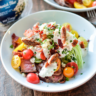 Classic Wedge Salad with Warm Honey Fig Blue Cheese