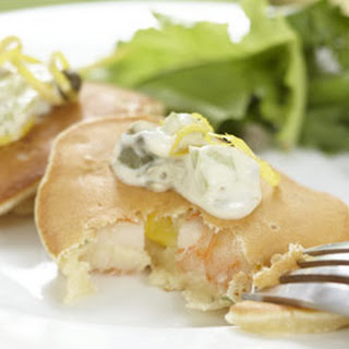 Shrimp, Corn and Dill Pancakes
