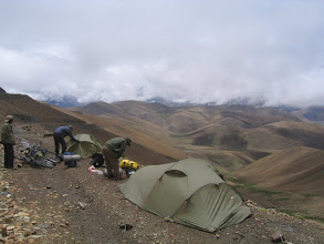 Photo: A very late morning at Pang la pass (5160m), because of heavy rain