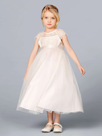 08-376-CR-116 Flower Girl Dress Lilly