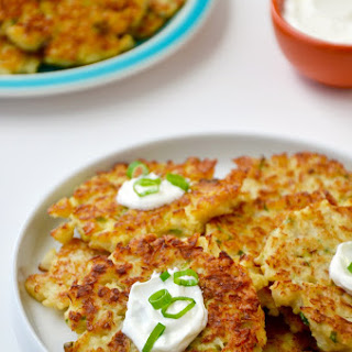 Healthy Cauliflower Fritters.