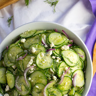 Cucumber and Pickled Feta Salad with Dill