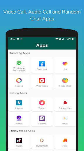 Video Calling Apps, Random Chat & Free Games App Report on Mobile