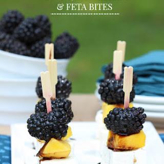 Mango, Blackberry and Feta Bites.