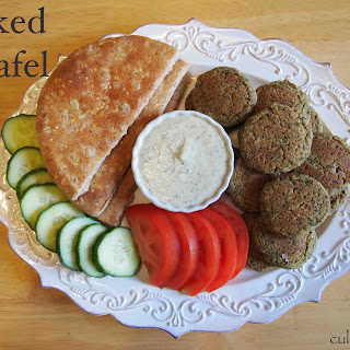 Baked Falafel Recipe with Tahini Sauce.