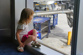 Photo: Watching the busyness of the Miami airport