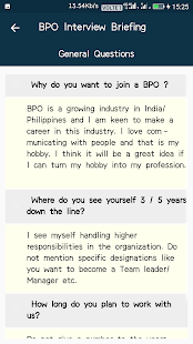 bpo interview briefing screenshot thumbnail - Bpo Interview Questions And Answers
