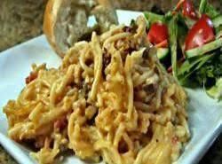 Cheesy Chicken Spaghetti in Crockpot Recipe Video