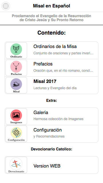 Misal Católico 2017- screenshot