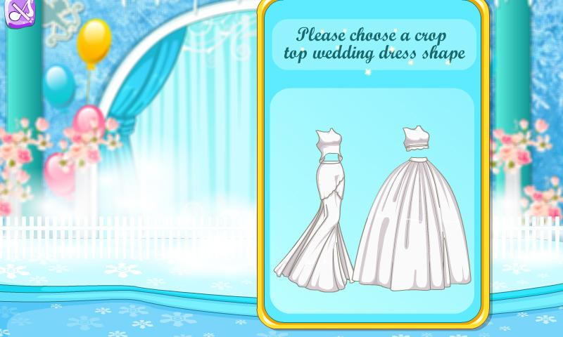 Princess Top Crop Wedding Gown- screenshot