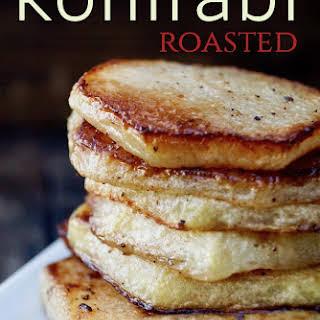 Simple Perfect Roasted Kohlrabi.
