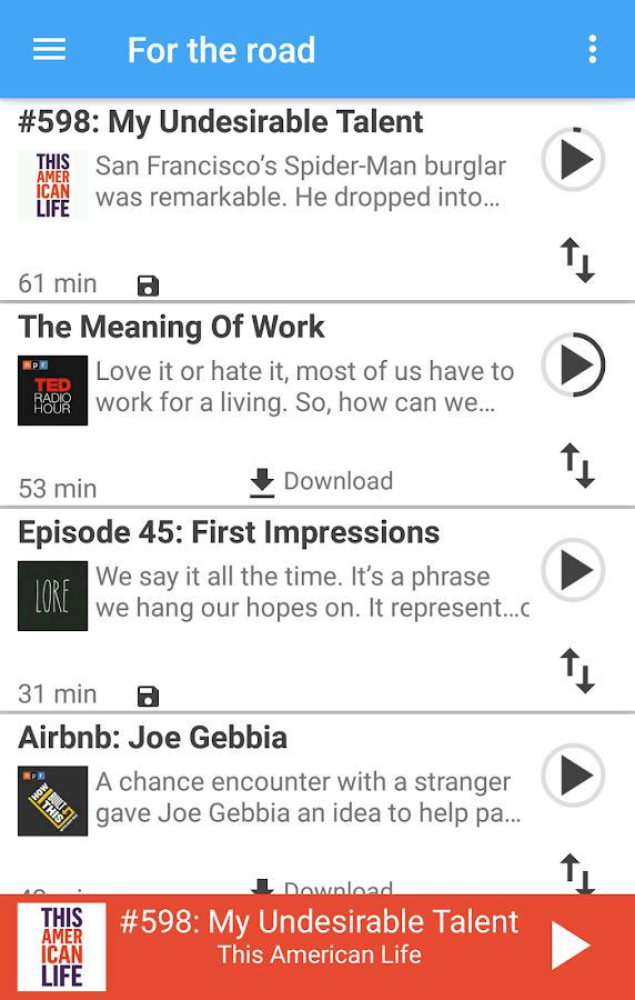 Podcast Pal Podcast Player- screenshot
