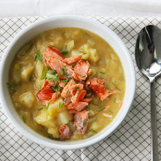 Leek Fennel Chowder with Smoked Salmon