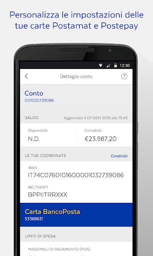 BancoPosta screenshot 6