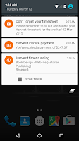 Screenshot of Harvest Time & Expense Tracker