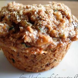 Vegan Zucchini Walnut Muffins.
