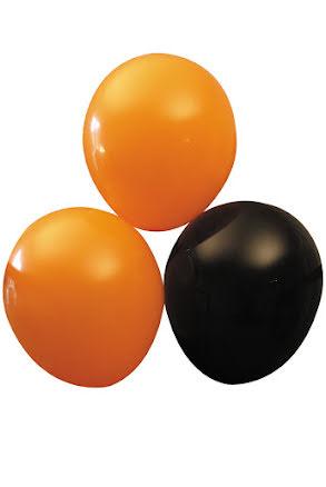 Ballonger, Svart/Orange 10st