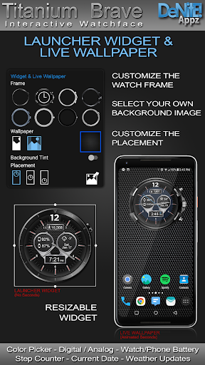 Titanium Brave HD WatchFace Widget Live Wallpaper 4.9.4 screenshots 2