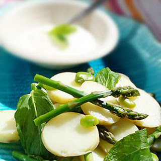 Spring Vegetable Potato Salad With Yoghurt Dressing